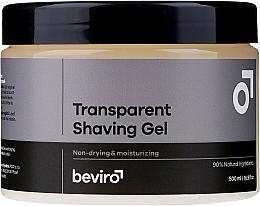 Kup PRZECENA! Transparentny żel do golenia - Beviro Transparent Shaving Gel*