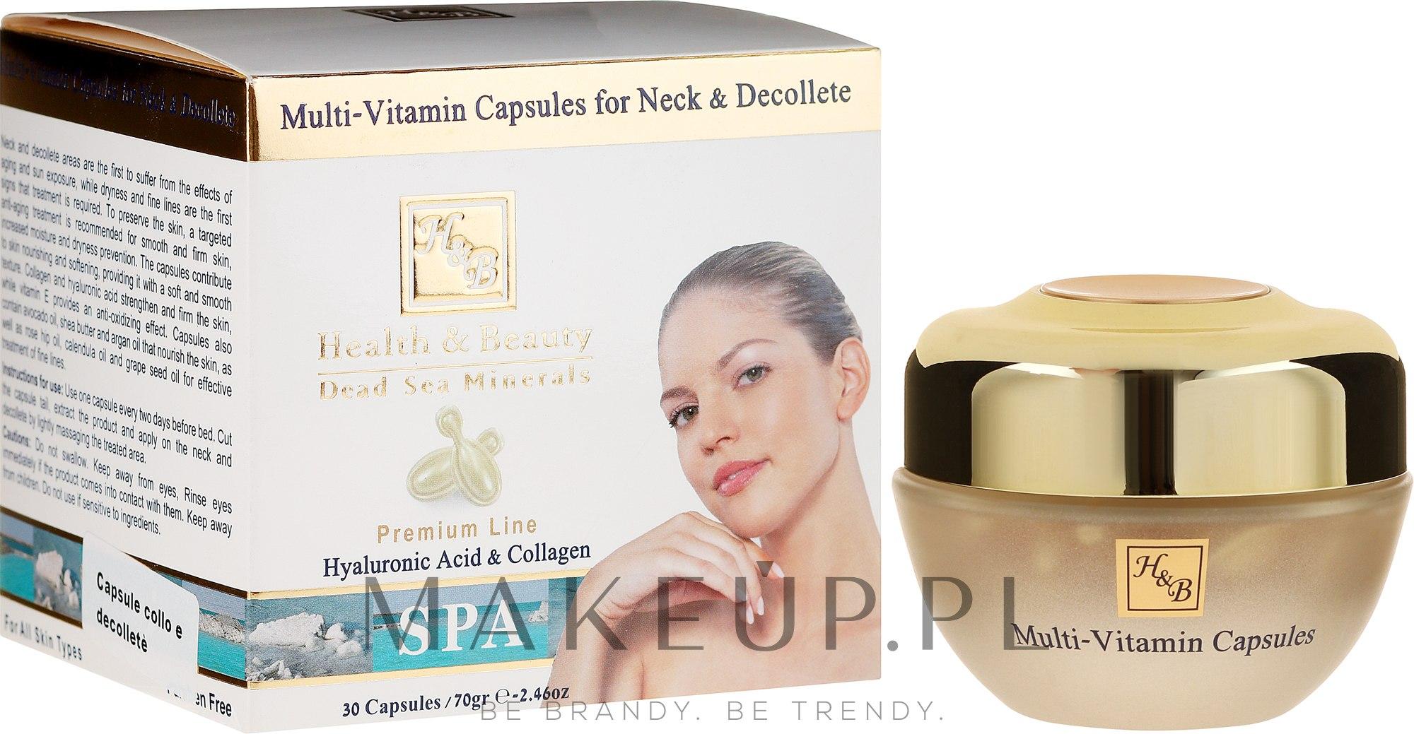 Kapsułki multiwitaminowe do szyi i dekoltu - Health And Beauty Multi-Vitamin Capsules For Neck And Decollete — фото 30 szt.