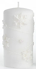 Kup Świeca dekoracyjna, biała 7x14 cm - Artman Snowflake Application