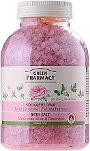 Kup Sól do kąpieli Róża piżmowa i zielona herbata - Green Pharmacy
