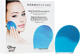 Kup Soniczna szczoteczka do oczyszczania twarzy, niebieska - DermoFuture Sonic Facial Cleansing Brush
