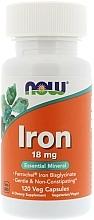 Kup Kompleks żelaza, 18 mg. - Now Foods Iron