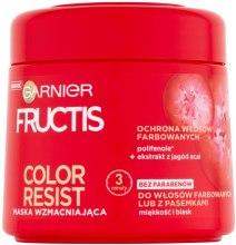Kup Maska wzmacniająca do włosów farbowanych lub z pasemnkami - Garnier Fructis Color Resist