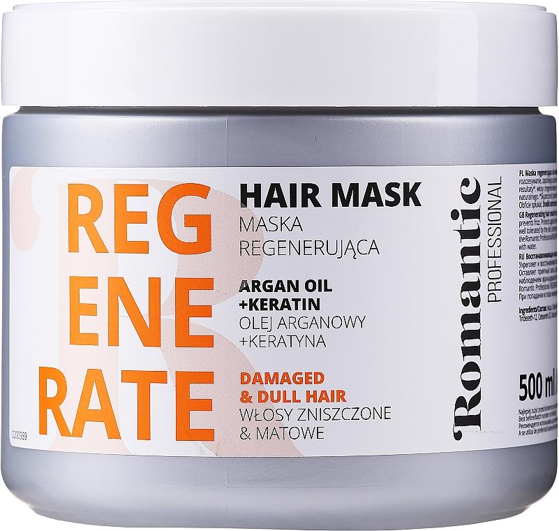 Regenerująca maska do włosów zniszczonych z olejem arganowym i keratyną - Romantic Professional Helps to Regenerate