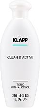 Kup Tonik do twarzy - Klapp Clean & Active Tonic with Alcohol