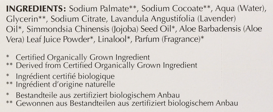 Nawilżające mydło kosmetyczne Lawenda, aloes i olej jojoba - Bentley Organic Body Care Calming & Moisturising Soap Bar — фото N4