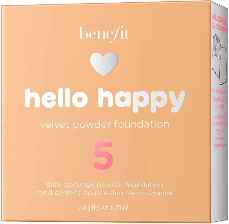 Podkład w pudrze do twarzy - Benefit Hello Happy Velvet Powder Foundation — фото N7