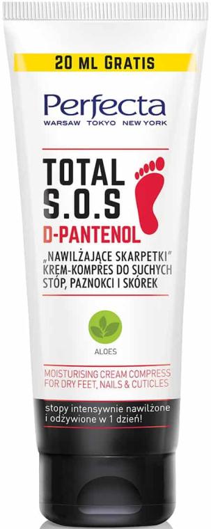 Krem-kompres do suchych stóp, paznokci i skórek Nawilżające skarpetki - Perfecta Total S.O.S. D-Pantenol