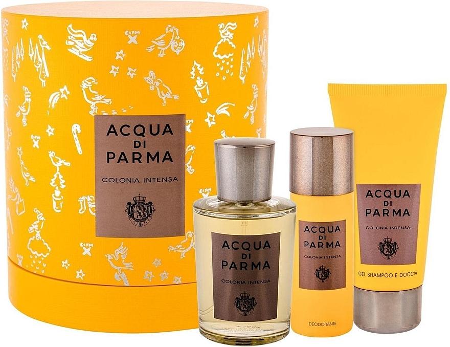 Acqua Di Parma Colonia Intensa - Zestaw (edc/100ml + sh/gel/75ml + deo/50ml) — фото N1