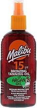 Kup Brązujące masło do ciała - Malibu Bronzing Tanning Oil with Argan Oil SPF 15
