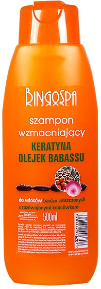 Szampon wzmacniający z keratyną i olejem babassu - BingoSpa Shampoos Strengthening Of The Keratin And Babassu Oil — фото N1