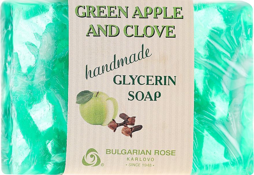 Ręcznie robione mydło glicerynowe w kostce Zielone jabłko i goździk - Bulgarian Rose Green Apple & Clove Soap — фото N1