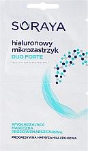 Kup Przeciwzmarszczkowa maseczka wygładzająca Hialuronowy mikrozastrzyk - Soraya Duo Forte Face Mask