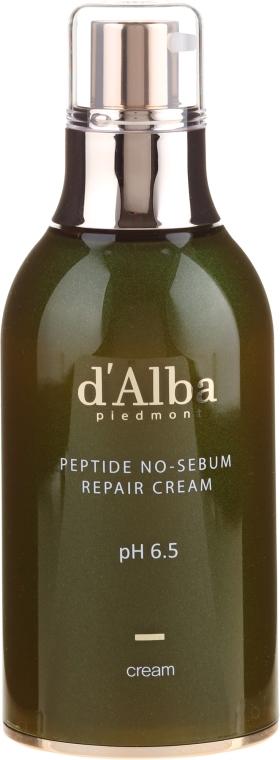 Naprawczy krem peptydowy regulujący wydzielanie sebum - D'Alba Peptide No-Sebum Repair Cream — фото N2