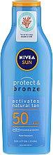 Kup Balsam do opalania z wysoką ochroną przeciwsłoneczną - Nivea Sun Protect&Bronze SPF 50