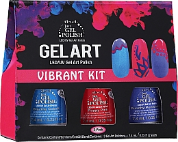 Kup Zestaw - IBD Gel Art Vibrant Kit (nail/lacquer/7,4mlx3)