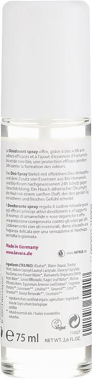 Organiczny dezodorant w sprayu do skóry wrażliwej - Lavera Basis Sensitive 24H Deodorant Spray — фото N2