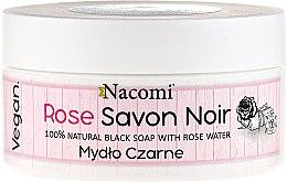 Kup 100% naturalne mydło czarne z wodą różaną - Nacomi Rose Savon Noir