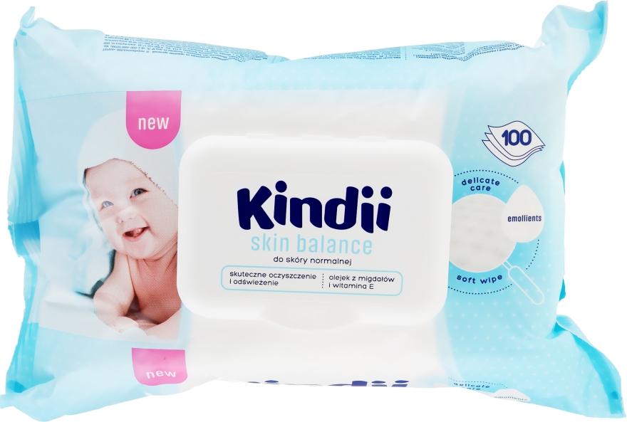 Nawilżane chusteczki dla dzieci do skóry normalnej - Cleanic Kindii Skin Balance
