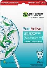Kup Maseczka w płachcie do twarzy przeciw niedoskonałościom - Garnier Skin Naturals Pure Active Anti-Impeffection Sheet Mask
