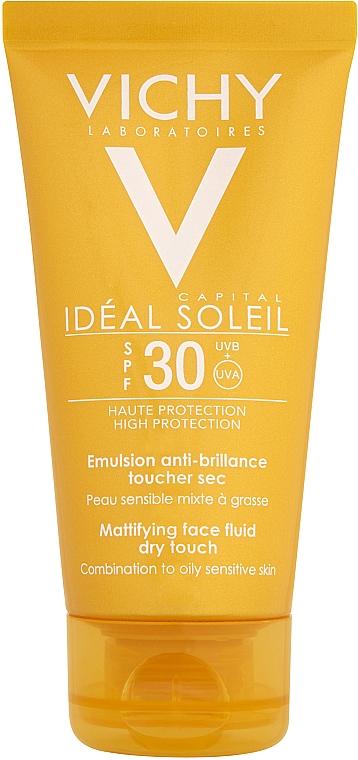 Przeciwsłoneczna emulsja matująca - Vichy Capital Soleil SPF 30 Emulsion Mattifying Face Fluid Dry Touch — фото N3