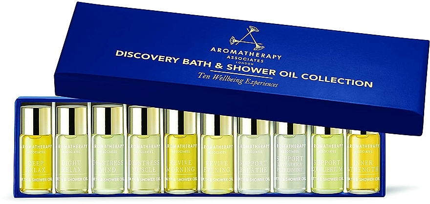 Zestaw - Aromatherapy Associates Miniature Bath & Shower Oil Collection (sh/bath/oil/10x3ml) — фото N1