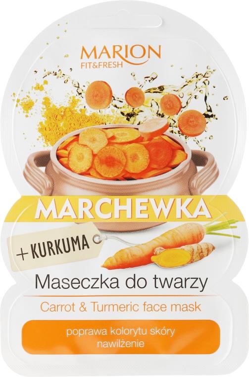 Maseczka do twarzy Marchewka i kurkuma - Marion Fit & Fresh