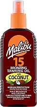 Kup Brązujący olejek do opalania SPF 15 - Malibu Bronzing Tanning Oil With Coconut