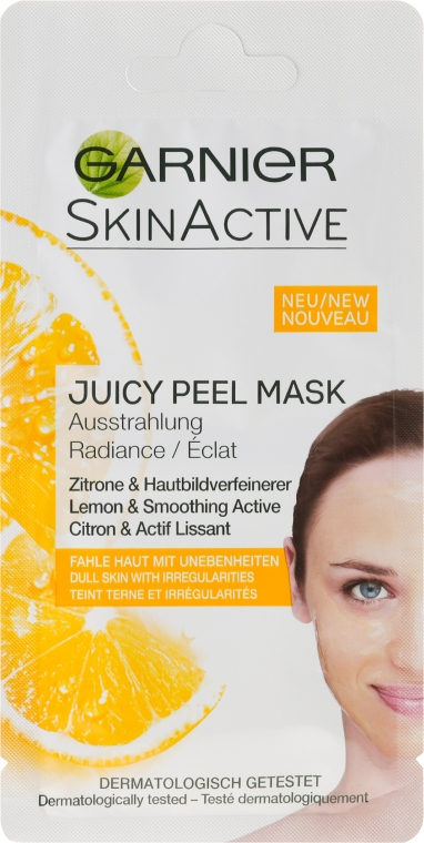 Rozświetlająca maska do twarzy z cytryną - Garnier SkinActive Juicy Mask — фото N1