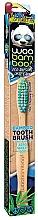 Kup Bambusowa szczoteczka do zębów, średnia twardość, niebiesko-zielona - Woobamboo Toothbrush Zero Waste Adult Bamboo Medium Bristle