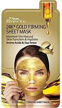 Kup Ujędrniająca złota maska na tkaninie do twarzy Aminokwasy i anyż - 7th Heaven Renew You 24K Gold Firming Sheet Mask