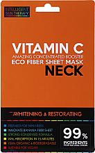 Kup PRZECENA! Ekspresowa maska na szyję - Beauty Face IST Whitening & Restorating Neck Mask Vitamin C *