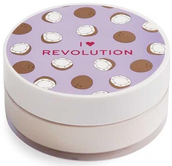 Sypki puder kokosowy do twarzy - I Heart Revolution Loose Baking Powder Coconut