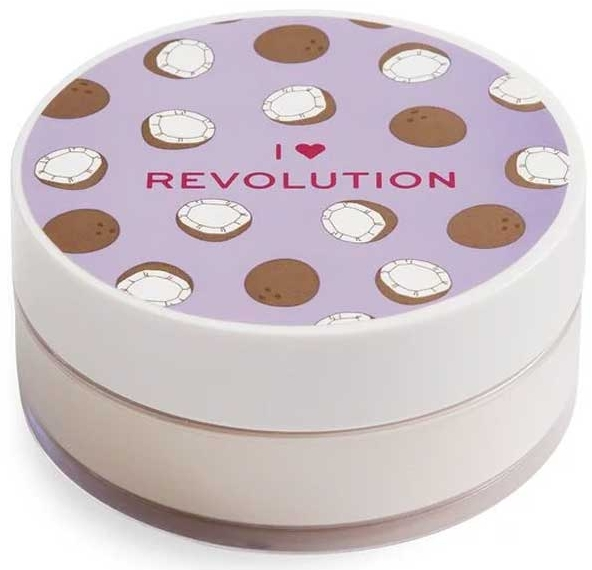 Sypki puder kokosowy do twarzy - I Heart Revolution Loose Baking Powder Coconut — фото N1