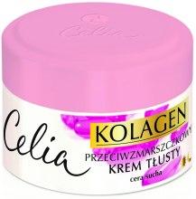 Kup Przeciwzmarszczkowy krem tłusty na dzień i na noc do cery suchej Kolagen i witaminy A i E - Celia Kolagen