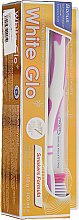 Kup Zestaw: wybielająca pasta do zębów dla palaczy + biało-malinowa szczoteczka - White Glo Smokers Formula Whitening Toothpaste (t/paste 100 ml + toothbrush)