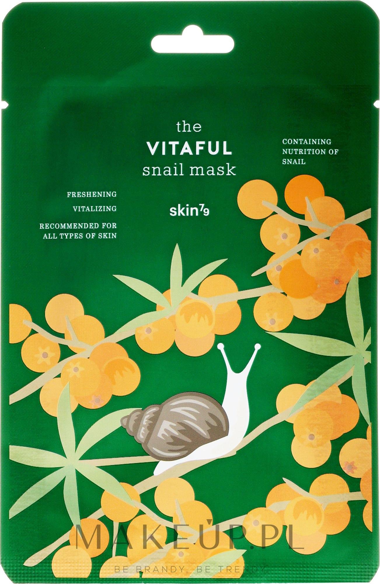 Energizująca maska w płachcie Odświeżenie i witalność - Skin79 The Vitaful Snail Mask — фото 20 ml