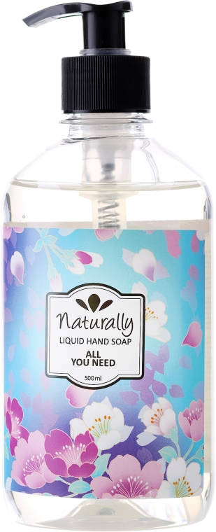 Naturalne mydło w płynie do rąk - Naturally Hand Soap All You Need — фото N1