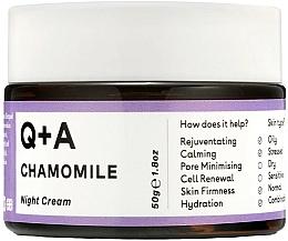 Kup Kojący krem do twarzy na noc - Q+A Chamomile Night Cream