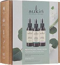 Kup Zestaw trzech toników w mgiełce do twarzy - Sukin Revitalise Your Skin Hydrating Mist Toner Trio (3 x toner 125 ml)