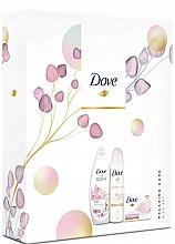 Kup Zestaw - Dove Glowing Ritual (sh/gel/250ml + deo/spray/150ml + soap/100g)