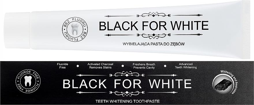 Pasta do zębów z węglem aktywnym - Biomika Black For White Teeth Paste