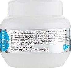 Upiększająca maska na porost włosów - Kallos Cosmetics Biotin Beautifying Hair Mask — фото N2