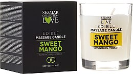 Kup Naturalna świeca do masażu Słodkie mango - Sezmar Collection Love Edible Massage Candle