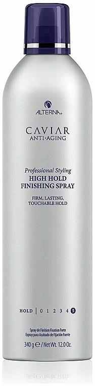 Silnie utrwalający lakier do wlosów - Alterna Caviar Anti Aging Professional Styling High Hold Finishing Spray — фото N2