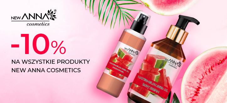 Zniżka 10% na wszystkie produkty New Anna Cosmetics. Ceny na stronie zawierają rabat.