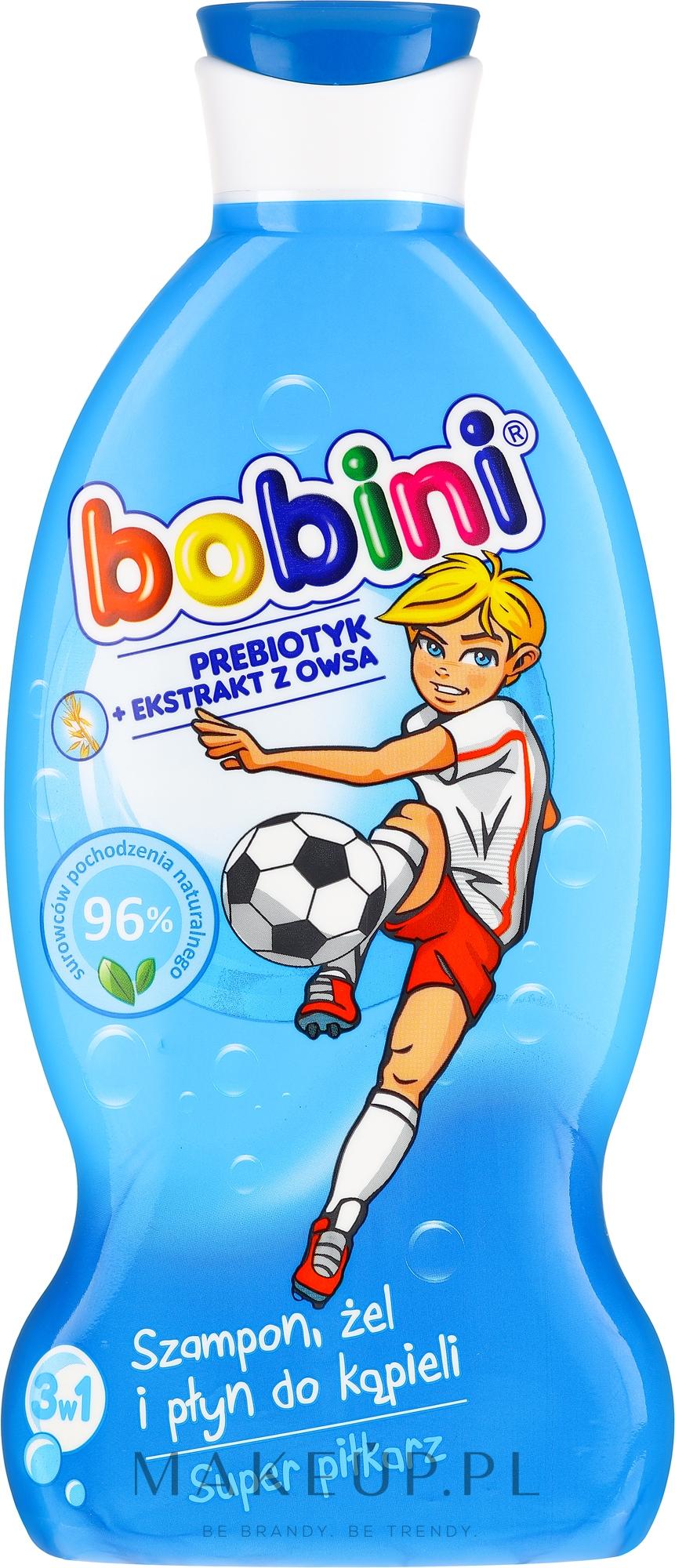 Szampon, żel i płyn do kąpieli Super piłkarz - Bobini — фото 330 ml