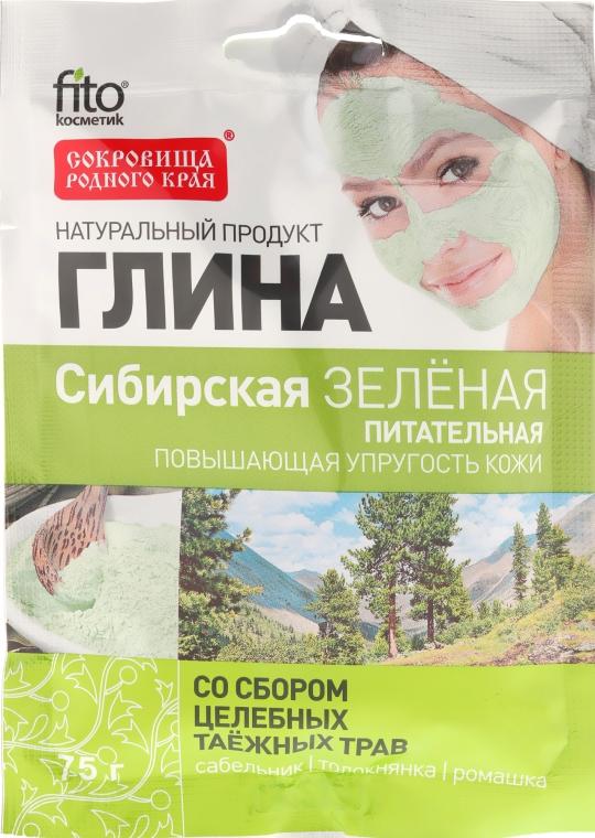 Syberyjska odżywcza glinka zielona z ekstraktami z ziół - FitoKosmetik