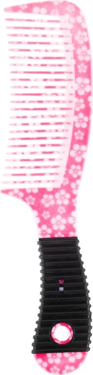 Grzebień do włosów 19.7 cm, 9806, różowy - Donegal Floral Hair Comb — фото N1
