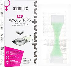 Kup PRZECENA! Paski z woskiem do depilacji okolic ust - Andmetics Lip Wax Strips Women (strips 8 x 2 + 4 x wipes) *